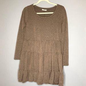 Easel Sz S brown dress
